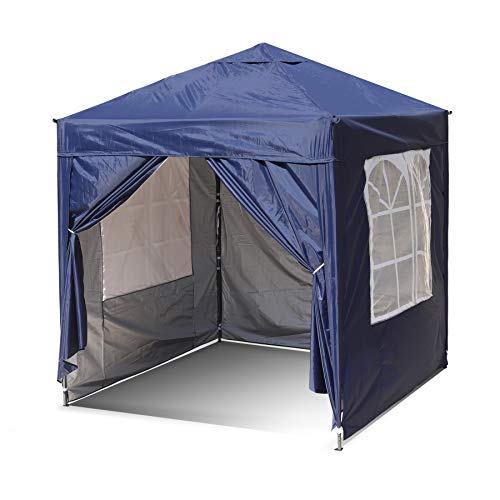 SANHENG Pop Up Gazebo, Pop Up Tent with Weights, Fully Waterproof, All Weather Gazebo ideal for Outdoor Party Camping (2x2m, Blue)