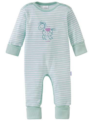 Schiesser Schiesser Mädchen Ponyhof Baby Anzug mit Vario Zweiteiliger Schlafanzug, Grün (Mint 708), 62 (Herstellergröße: 062)