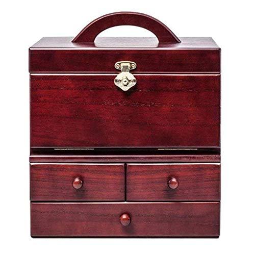 ADSE Joyero - Dormitorio portátil Cosméticos Joyas Una Caja de Almacenamiento Tocador Princesa Caja de tocador de Madera