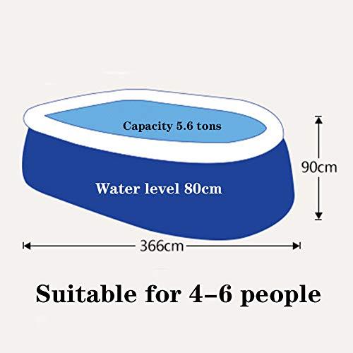 Paddling Pool Giant Rectangular Family Large Bracket Swimming Pool for Summer Outdoor Garden,36620090