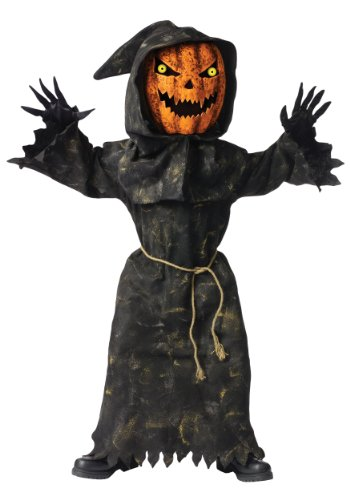 Kids Bobble Eyes Pumpkin Costume Size 8