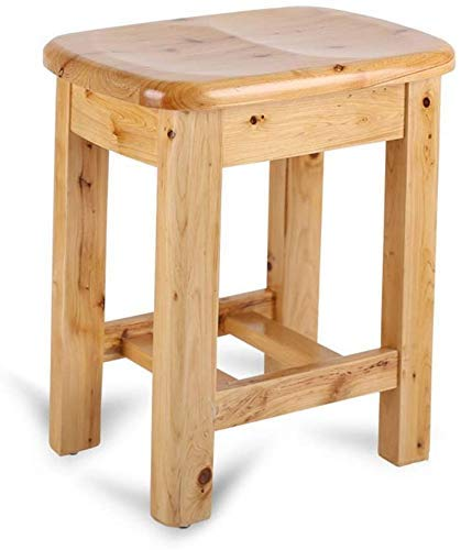 YHtech Stools stool personality Solid Wood Waterproof Nonslip Safety Stable Comfort Bath Chair Change Shoes Stool Elderly/Handicapped/Pregnant Bath Stool Curved Surface Chair Max. 250kg Easy to manage
