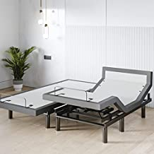 Sven & Son Split King Adjustable Bed Base Frame (Head Tilt) 5 Minute Assembly, Head & Foot Articulation, USB Ports, Zero Gravity, Interactive Dual Massage, Wireless, Classic (Split King)