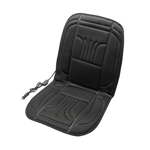 UNITEC 75774 Auto Sitzheizung Carbon Basic, Beheizbare Sitzauflage Heizkissen, 2 Heizstufen, Seitenairbag geeignet,...