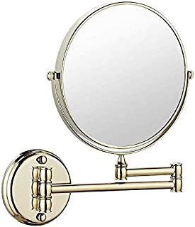 BMJ&C Shaving Mirror Extending Folding Double Side Cosmetic Make Up 3x/5xMagnification Bathroom Makeup Mirror (Color : 06, Size : 8 inch/5×)