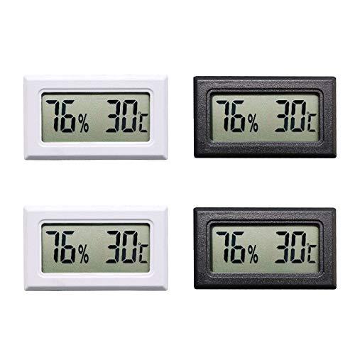 Thlevel 4PCS Mini LCD Digitale Termometro Igrometro Temperatura Umidità Misuratore