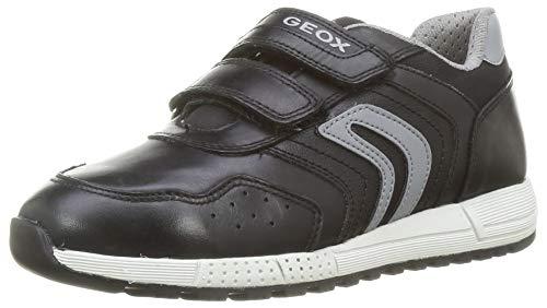 GEOX J ALBEN BOY E BLACK/GREY Boys' Trainers Low-Top Trainers size 38(EU)