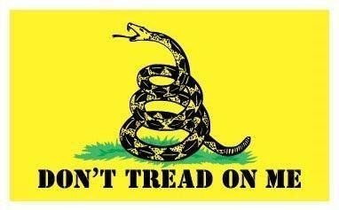JMM Industries Gadsden Flag Vinyl Decal Sticker Don