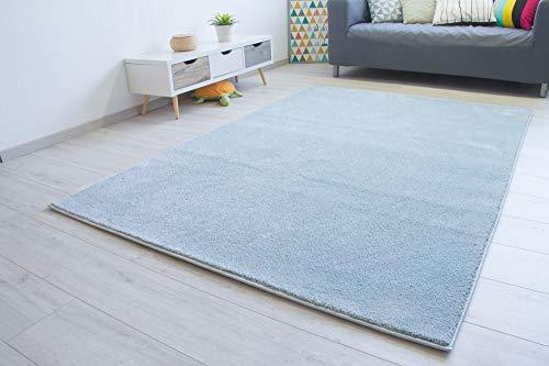 Steffensmeier Kurzflor Teppich Bovino Wohnzimmerteppich modern, strapazierfähig und pflegeleicht, Mint, Größe: 160x230 cm