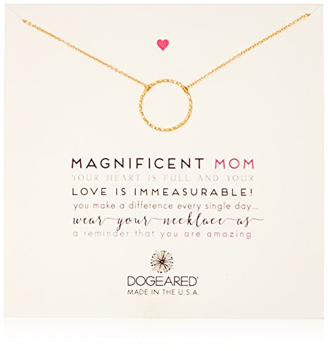 Dogeared The Magnificent Mom Little Sparkle Karma Gold Dipped Chain Necklace, 18'