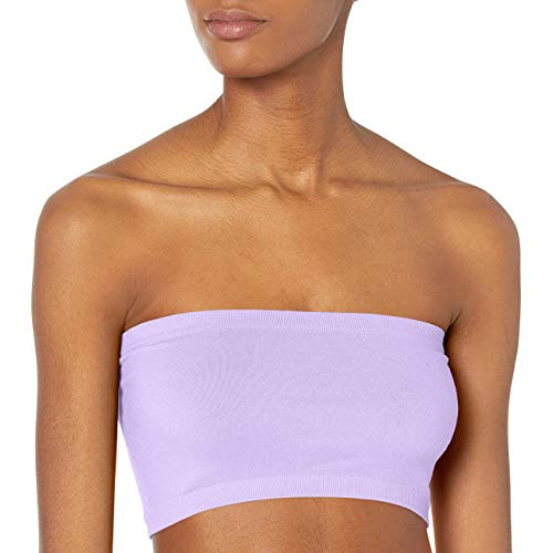 skinnytees - Women's Solid Bandeau, Lavender, One Size