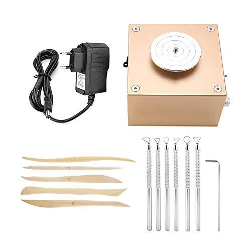 Focket Töpferscheibe Maschine, Mini Elektrische Tonwarenradmaschine Keramikmaschine Zuverlässig und Langlebig, Stabile Rotierende Geschwindigkeit Geeignet für Tonkunst DIY Handwerk