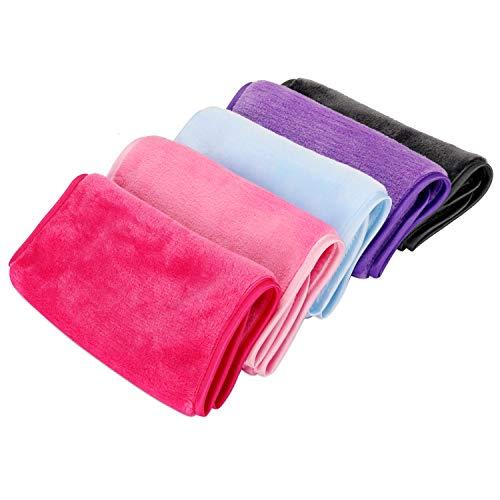 Abschminktücher Mikrofaser zum Abschminken (5 Stück), Make-Up Entferner Tuch, Abschminken und Reinigen nur mit Wasser, hypoallergen & waschbar & wiederverwendbar Mikrofaser Gesichtsreinigungstuch