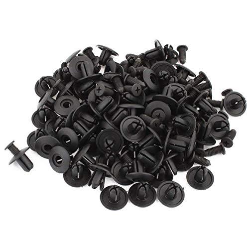 TOSSPER 100 Piezas De 6 Mm Clips De Sujeción para Coche Grapas Parachoques Escudo De La Puerta Panel De Ajuste De Retención del Remache De Plástico Auto