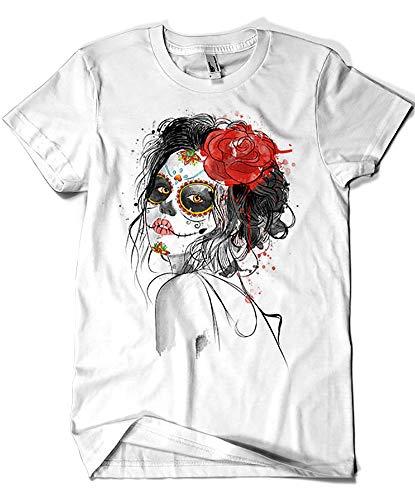 Camisetas La Colmena 3488-Dia de los Muertos (Dr.Monekers)