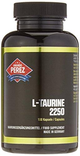 L-Taurin - 2250 mg pro Dosis - 100 Kapseln - Schlüssel-Aminosäure - bioverfügbar & hochkonzentriert