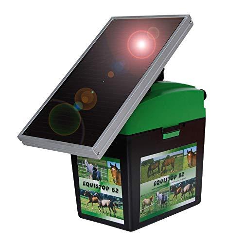 Horizont Weidezaungerät Elektrozaungerät equiSTOP B2 Solar 12V für Pferde, Rinder, Schafe, Schweine, Ziegen