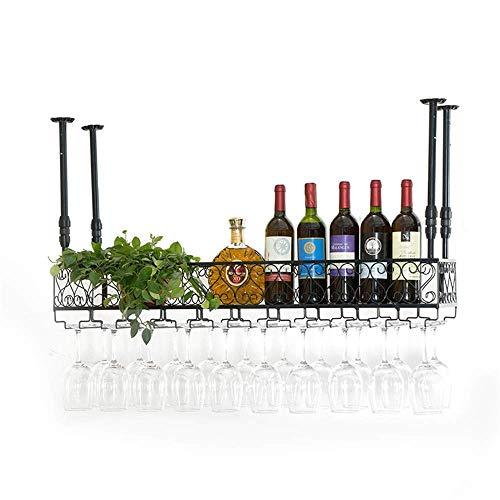 Wine Rack Bar Rack Para Copas De Vino Ktv Portavasos Especial Portavasos Para Colgar Portavasos Creativo Estante Para Copas De Vino Portavasos Para Vino (Color: Classic Black, Tamaño: 50X25Cm) Vino T
