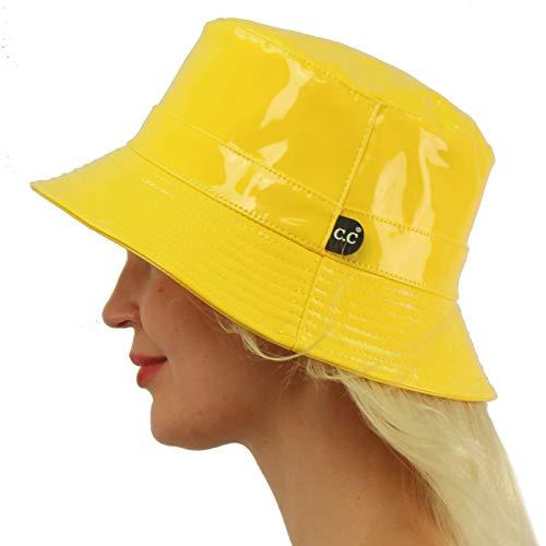 C.C Rain Waterproof Bucket Boonie Bush Fisherman Hiking Wide Brim Cap Hat Yellow