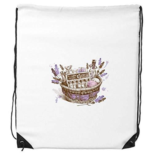 DIYthinker Bloemen Plant Schilderij Present Lavendel Mand Trekkoord Rugzak Winkelen Sport Tassen Gift