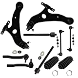 Detroit Axle - 12pc Kit: Both (2) Front Lower Control Arms and (2) Lower Ball Joints and A...