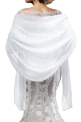 Mirror Fashion - Chal - mujer blanco blanco Talla