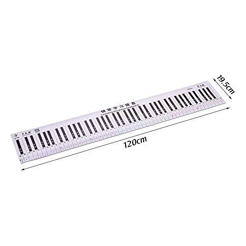 88 Teclas Teclado de Piano Dedos Hoja de Tablas de práctica con Notas y pentagramas Guía de enseñanza de Piano Herramienta de Ayuda Dedos Versión para Estudiantes Principiantes Niños