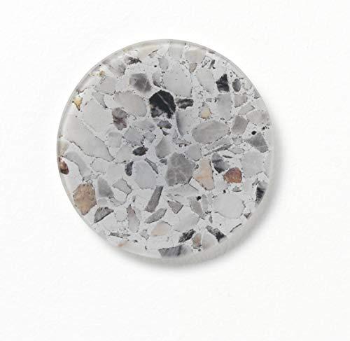 NAGA Nord, supersterke magneet, grijze mix terrazzoglas, Ø10cm