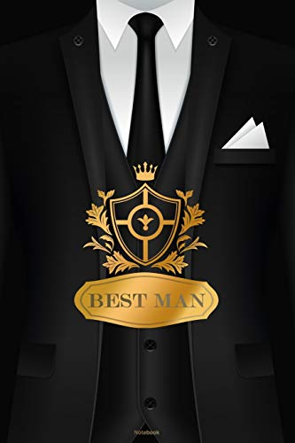 Best Man Notebook: Bachelor Party Journal Wedding Speach and Planner Composition Book Gift