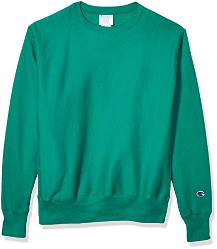 Champion Men s Reverse Weave Sweatshirt,kelly green,SMALL
