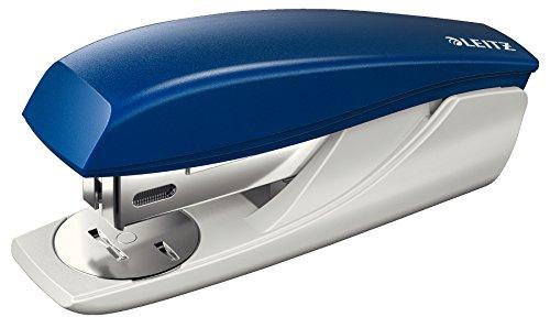 Leitz Kleines Büroheftgerät, Für 25 Blatt, Ergonomische Form, Inkl. Heftklammern, Blau, NeXXt-Serie, 55016035