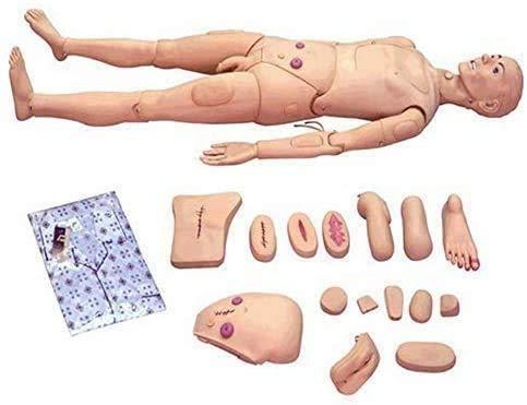 NHM Nursing doll,Nursing doll for Nursing Medical Education Teaching and Education, Medical Care Elderly Care Male Care Doll for Care Medical Training Teaching