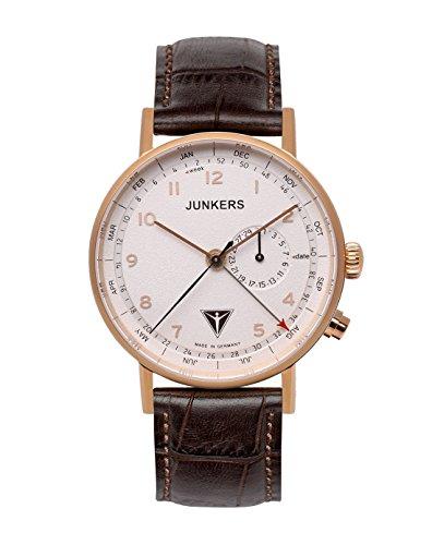 Junkers Herren Analog Quarz Uhr mit Leder Armband 67364