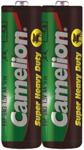 Camelion R6AA Mignon Super Heavy Duty Batterie (2Stück) (Schrumpffolie Verpackung)