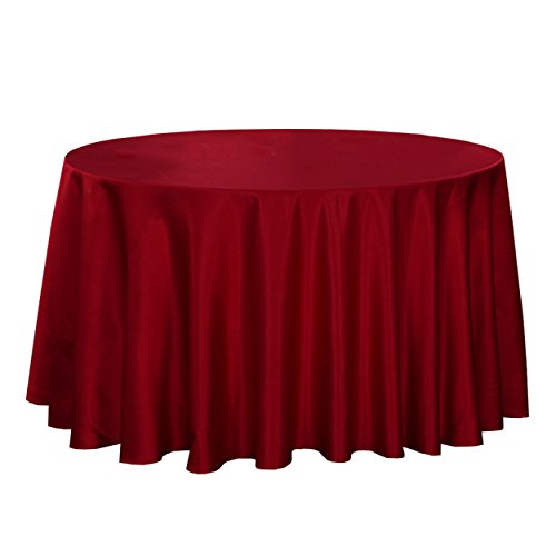 LSHEL Nappe Rectangulaire Antitache Polyester Couleur Pure Nappe Ronde Décoration De Table/Fête, Rouge, Rectangle 140 * 140cm