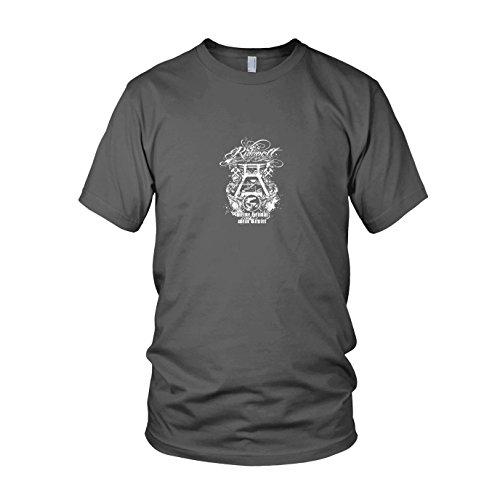 Ruhrpott Meine Heimat - Herren T-Shirt, Größe: M, Farbe: grau