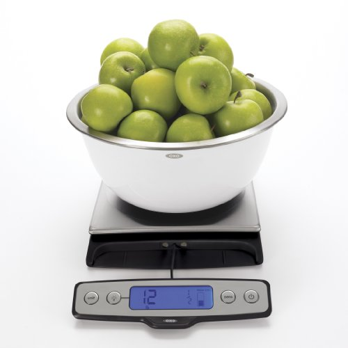 OXO Good Grips Stainless Steel Food Scale with Pull Out Display – 22 lbs.