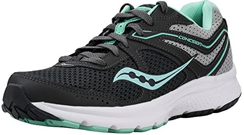 Saucony Women's Cohesion 11 Grey/Mint Running Shoe 8 M US