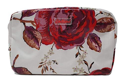 Cath Kidston Kosmetiktasche, Jacquard Rose, Wachstuch, cremefarben