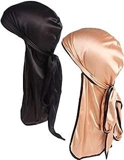 Durags,Silky Durag Pack for Men Women 360 Waves