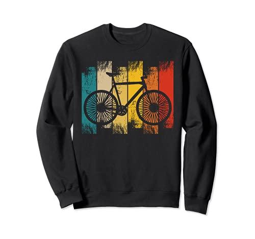 Road Bicycle T-Shirt Biker Cycler Vintage Retro Cycling Felpa