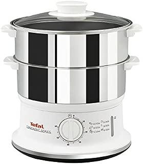 Tefal 特福 VC145140 便利系列蒸锅,双层持久耐用的不锈钢蒸笼,白色