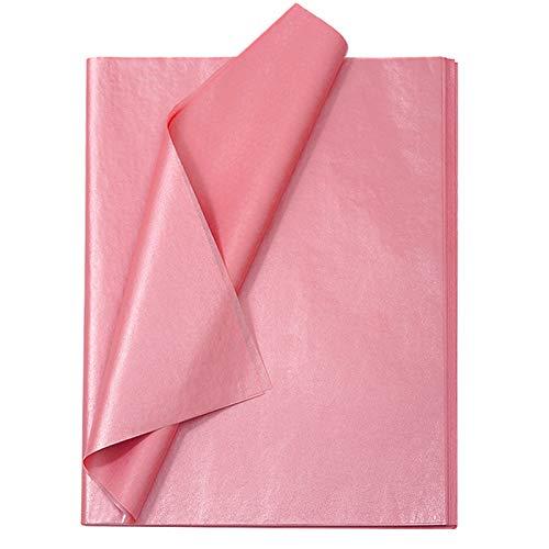 Seidenpapier 50x70 cm 25 Blatt Rosegold Geschenk Verpackungsmaterial Tissue Paper Packpapier Seidenpapier zum Verpacken Packseidenpapier für Heimarbeit Blumen Geburtstag Weihnachten Geschenkverpackung