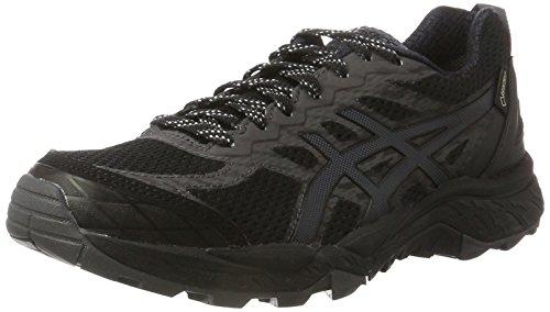 Asics Gel-Fujitrabuco 5 G-TX, Zapatillas de Running para Asfalto para Mujer, Negro (Black/Dark Steel/Silver), 39.5 EU