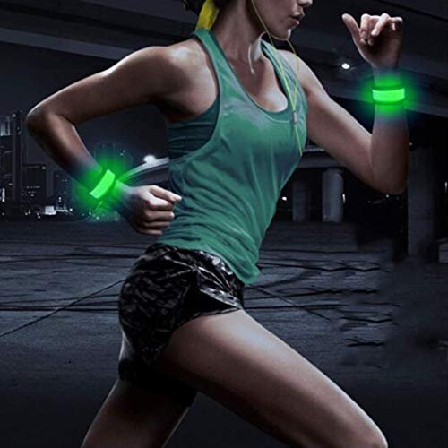 Gortin Led Armband Light Glow Band Light Up Sports Wristbands LED Glow Bracelets Glow Slap Bracelet The Dark-Safety Running Gear Pack of 2