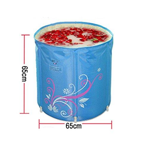 Why Choose MBJZ The cotton adult bath bucket bath bucket plastic tub bath barrel fold mu basin, blue...