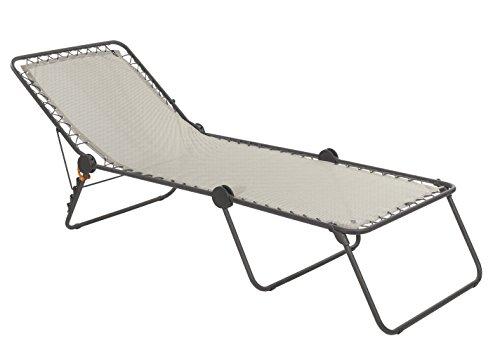 Lafuma Hamaca, Plegable con respaldo ajustable, Sistema de suspensión con cuerdas elásticas, Siesta L, Batyline, Beige, LFM2293-8548