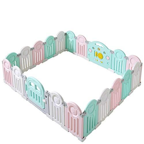 Hfyg Box baby box meerkleurig ecologisch PE zuigelingkruipende peuterplank van de baby veiligheid omheining (grootte: 22 panelen - 203x210cm)