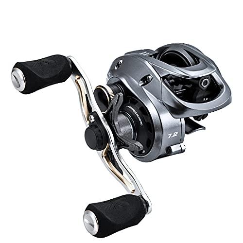 SeaKnight FALCAN2 Carrete de Baitcasting 10+1 Rodamientos Pesca de Agua Dulce 7.2:1/8.1:1 Relación de Engranajes de Alta Velocidad Carretes Suaves de Fibra de Carbono Arrastre máximo 8kg