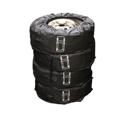 """Petex Reifentaschenset Premium 4-teilig passend für alle Reifentypen bis 245 mm (14-18\"""")"""
